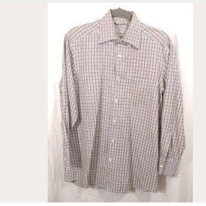 Ermenegildo Zegna mens dress button down shirt med